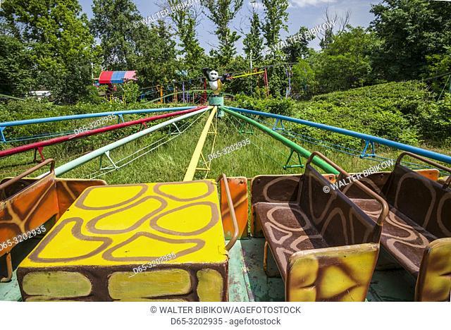 Armenia, Yerevan, Haghtanak Park, amusement park carousel