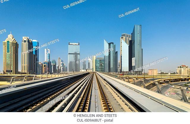 Downtown Dubai Metro rails, United Arab Emirates