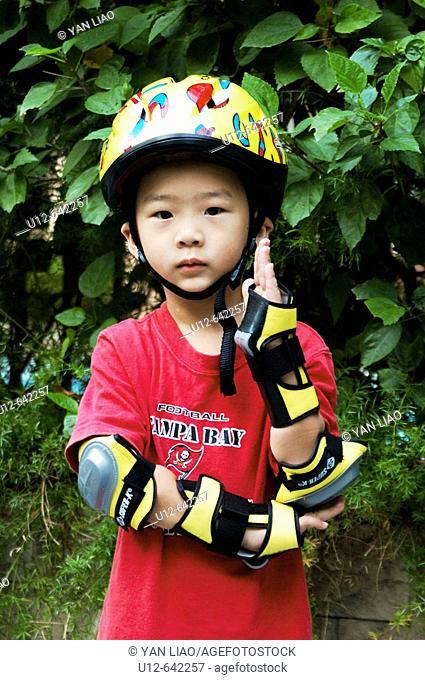 Chinese little boy. Shenzhen. China