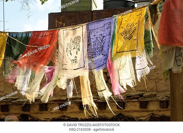 Tibetan Prayer flags, Animal Kingdom, Disney World Resort, Orlando, Florida, USA