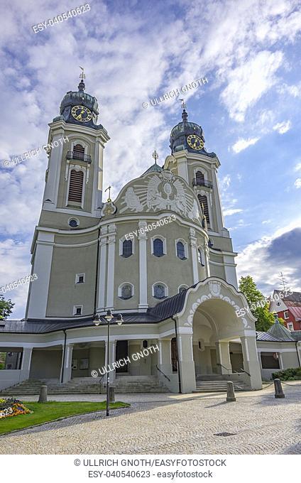 Parish church St. Peter and Paul in Lindenberg in the Allgaeu, Bavaria, Germany