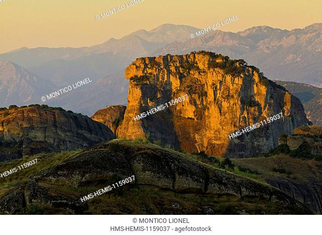 Greece, Thessaly, Meteora monasteries complex, listed as World Heritage by UNESCO, Meteora