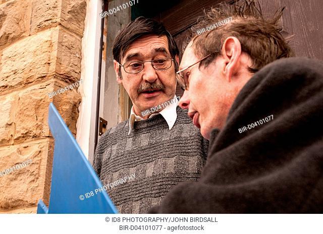 Bailiff visiting a client