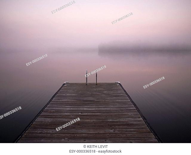 Lake of the Woods, Ontario, Canada, A dock on the water