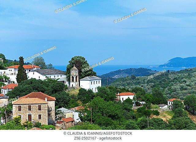 The village of Promiri on Pelion Peninsula, Thessaly, Greece