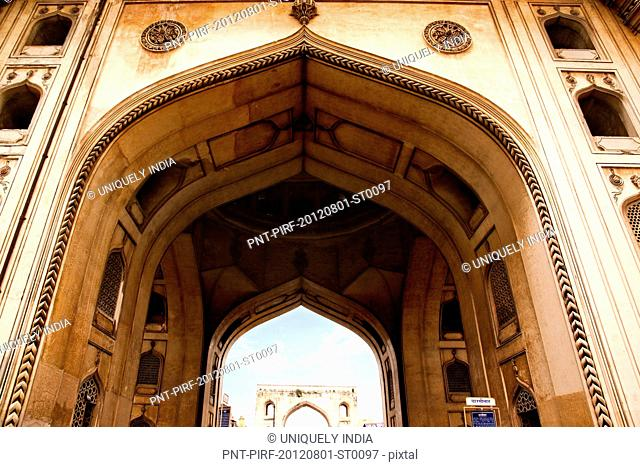 Low angle view of arch, Charminar, Hyderabad, Andhra Pradesh, India