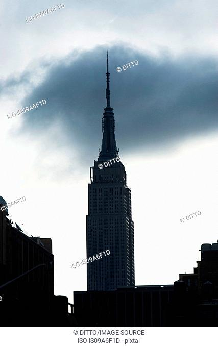 Silhouette of Empire State Building, New York City, USA