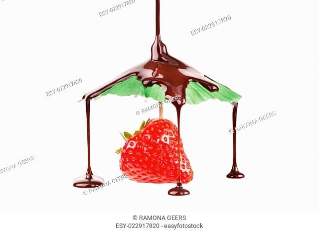 Erdbeere mit Schokolade