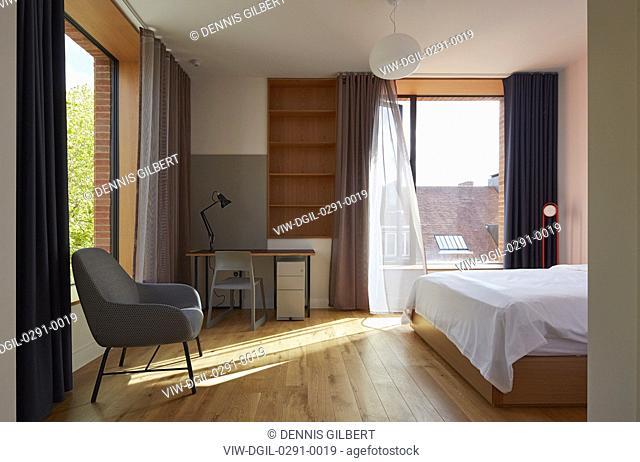 Interior of student accommodation. Newnham College, Cambridge, Cambridge, United Kingdom. Architect: Walters and Cohen Ltd, 2018