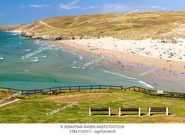 Perran Beach, Perranporth, North Cornwall, England, United Kingdom, Europe
