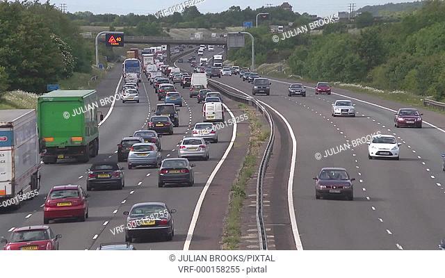busy motorway time lapse traffic