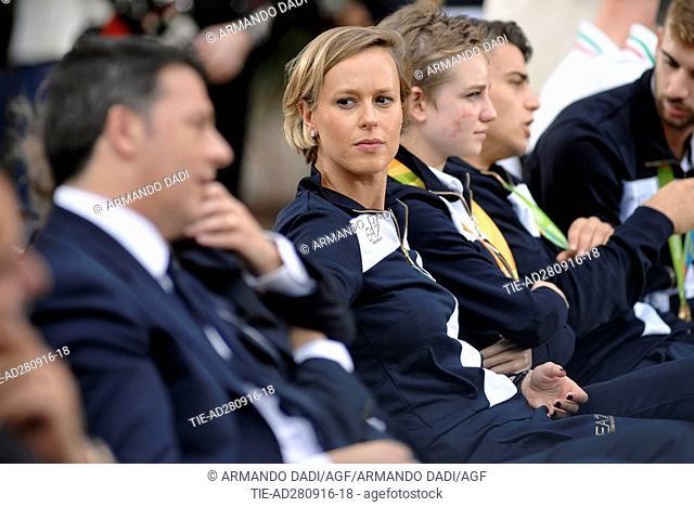 The athlete Federica Pellegrini during the ceremony at Quirinale, Rome, ITALY-28-09-2016