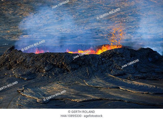 Erta ale, Africa, Ethiopia, Afar region, Afgar, Danakil, desert, volcano, crater, volcano eruption, eruption, lava, heat, slag