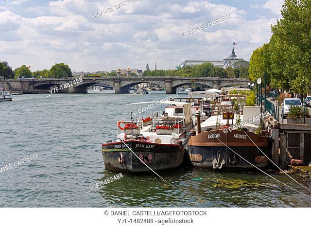 Boats, Seine, Paris, France
