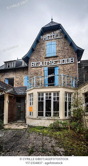 Abandoned hotel, Brittany, France