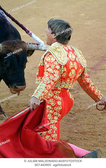 Spanish bullfighter Manuel Díaz 'El Cordobés'. Almagro, Ciudad Real, Castilla-La Mancha, Spain