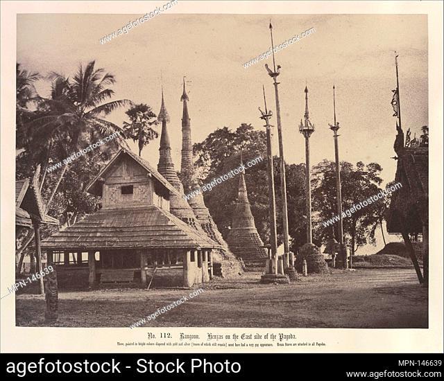 Rangoon: Henzas on the East Side of the Shwe Dagon Pagoda. Artist: Linnaeus Tripe (British, Devonport (Plymouth Dock) 1822-1902 Devonport); Date: November 1855;...