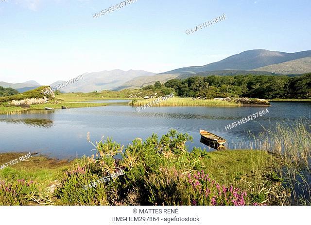 Ireland, Kerry County, South Coast, national park of Killarney, Lough Leane lower lake