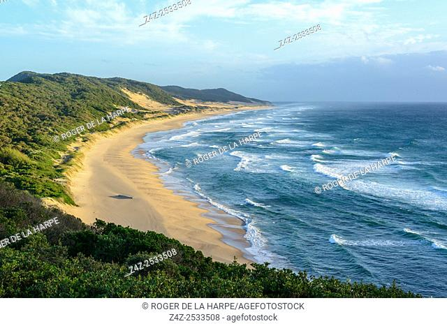 View of Maputaland coastline at Mabibi. iSimangaliso Wetland Park (Greater St Lucia Wetland Park). KwaZulu Natal. South Africa