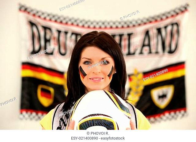 Brunette Germany fan