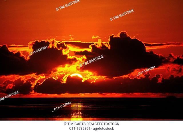 Sunset Lancashire England UK