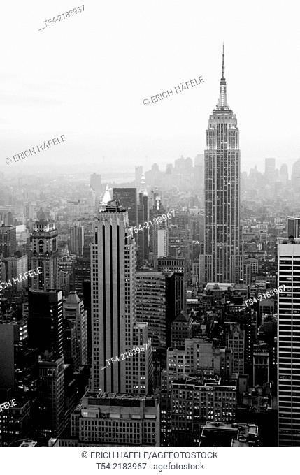 View over Manhattan from Rockefeller Center