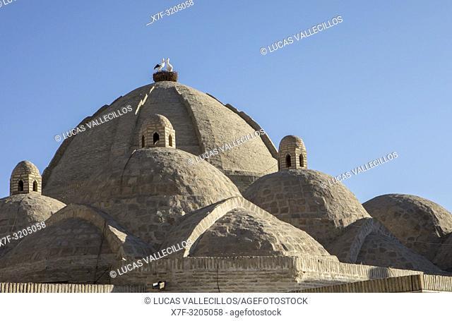 roof detail of Taki Zargaron bazaar, Bukhara, Uzbekistan