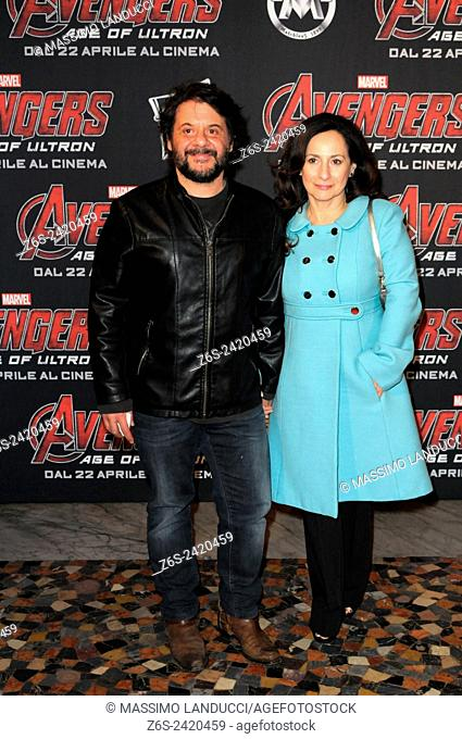 Pasquale Petrolo ; lillo; actor ; celebrities; 2015;rome; italy;event; red carpet ; avengers, age of ultron