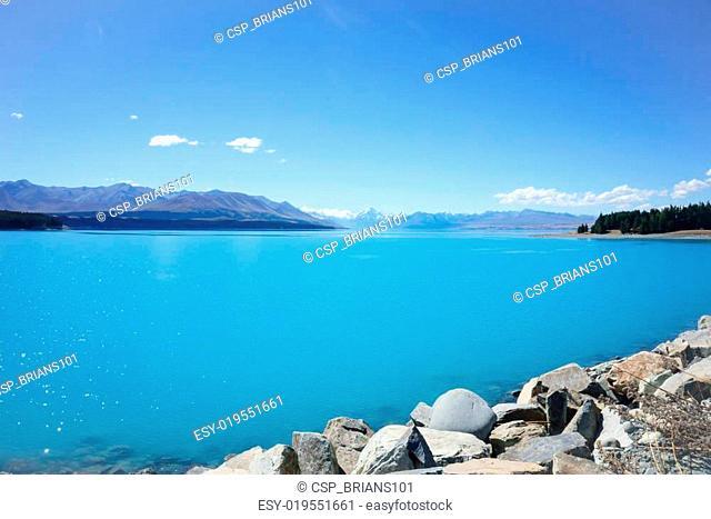 Natural turquoise lake