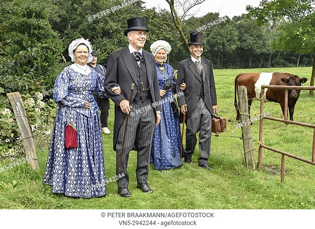People with nostalgic clothes. Netherlands