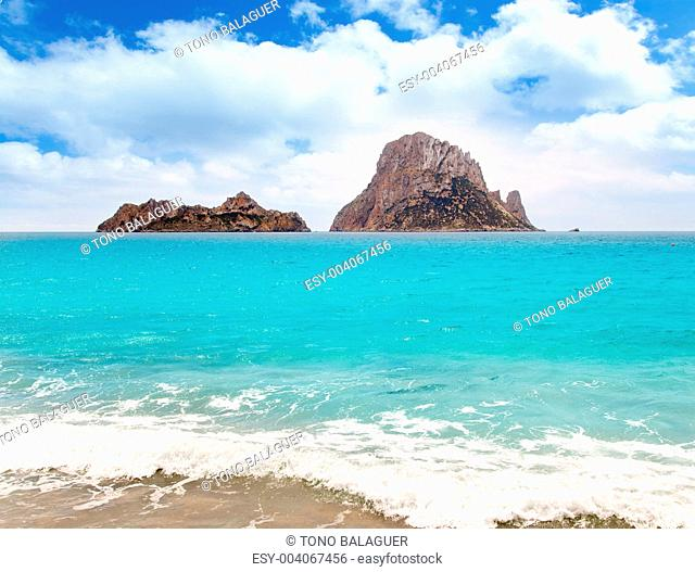 Cala d Hort Ibiza beach Es Vedra island