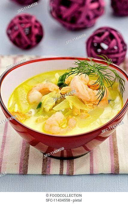 Fish soup with saffron
