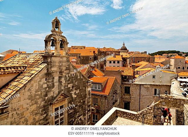 View of Dubrovnik Rooftops from the City Walls, Croatia