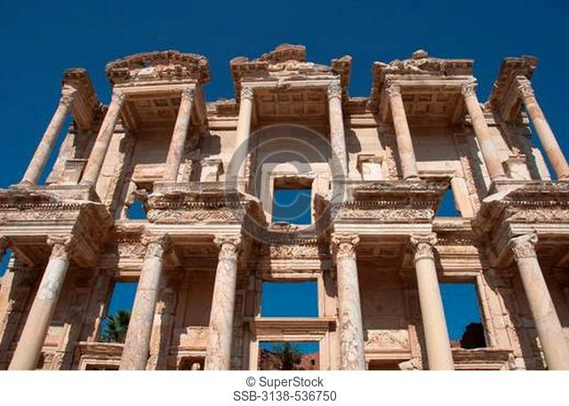 Ruins of a library, Celsus Library, Ephesus, Turkey