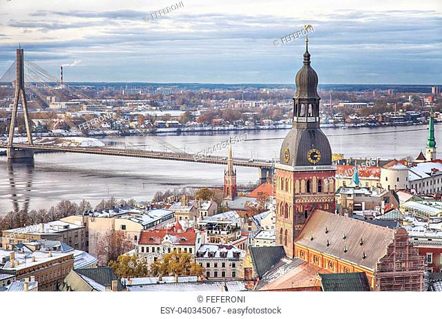 Cityscape of Riga, the capital city of Latvia