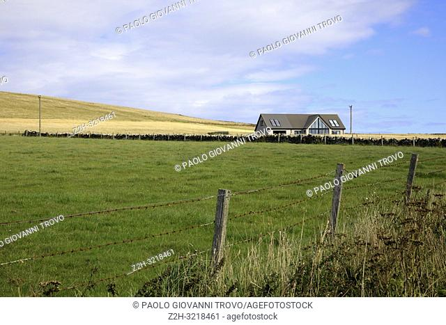 The landscape near Yesnaby cliffs area, Stromnessr, Orkney, Scotland, Highlands, United Kingdom