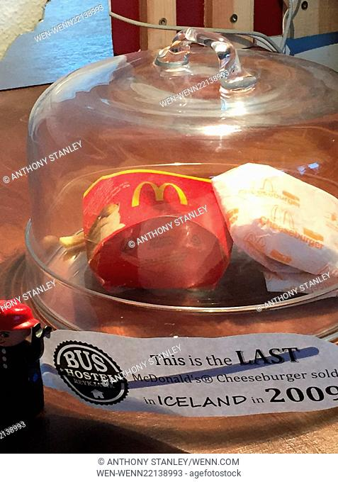 The last McDonalds hamburger in Iceland After the economic crash in Iceland in late 2008 McDonalds decided to close their diners in the country