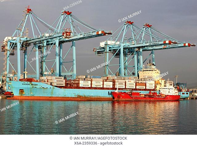 APM Terminals container ship port at Algeciras, Cadiz Province, Spain