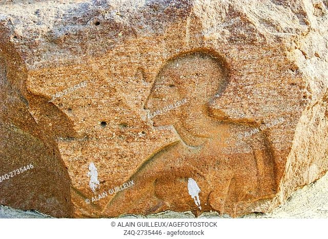 Egypt, Nile Delta, Tanis, exhibition of several ancient artifacts : Woman ?