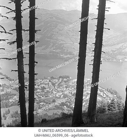 Blick auf Zell am See, Deutschland 1930er Jahre. View to Zell am See, Germany 1930s