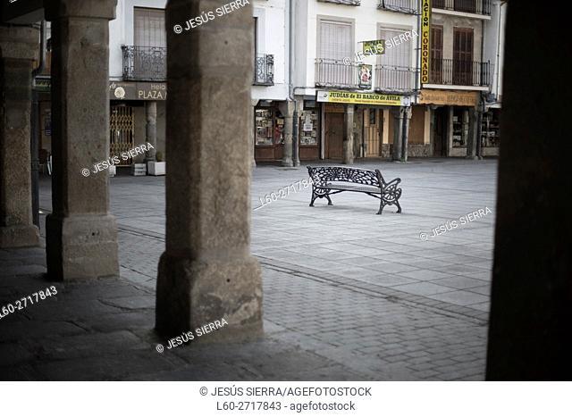 Main square of Barco de Avila, Castille and León. Spain