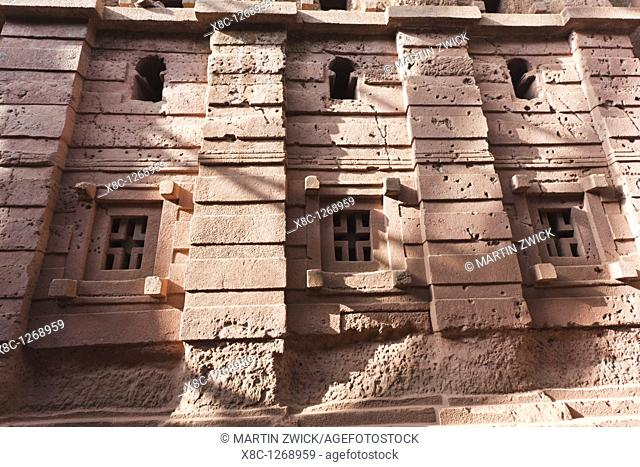 The rock-hewn churches of Lalibela in Ethiopia  The church Bet Amanuel, buildt in the ethiopian - axumite style, exterior  The churches of Lalibela have been...