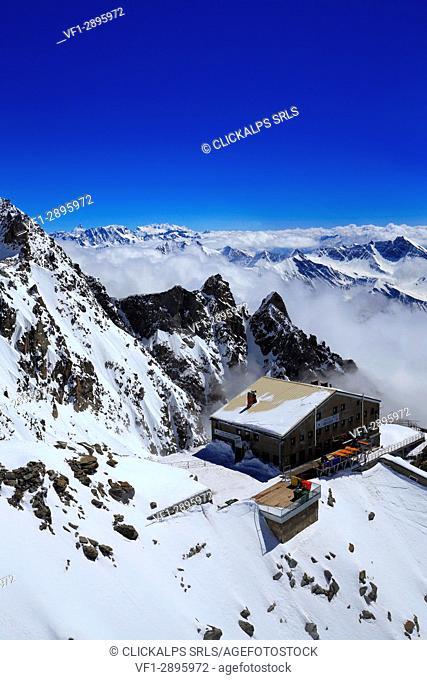 Rifugio Torino, Mont Blanc, Courmayeur village, Aosta district, Aosta Valley, Italy