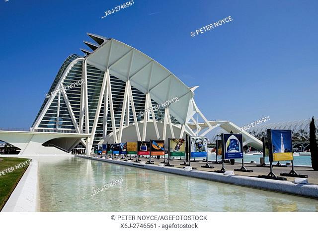 Principe Felipe Science Museum in Valencia Spain