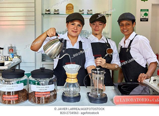 Laboratorio del Cafe, Laboratory coffee, Plaza Botero, Medellin, Antioquia, Colombia, South America