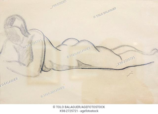 Untitled, pencil on paper, Juli Ramis, Can Prunera museum of modernism, Soller, Serra de Tramuntana, Majorca, Balearic Islands, Spain