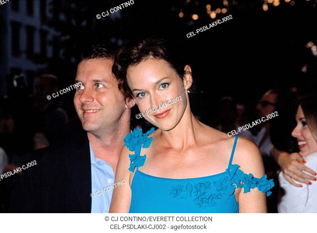 Laura Kirk and Nat DeWolf at the premiere of LISA PICARD IS FAMOUS, 8/15/2001, NYC, by CJ Contino