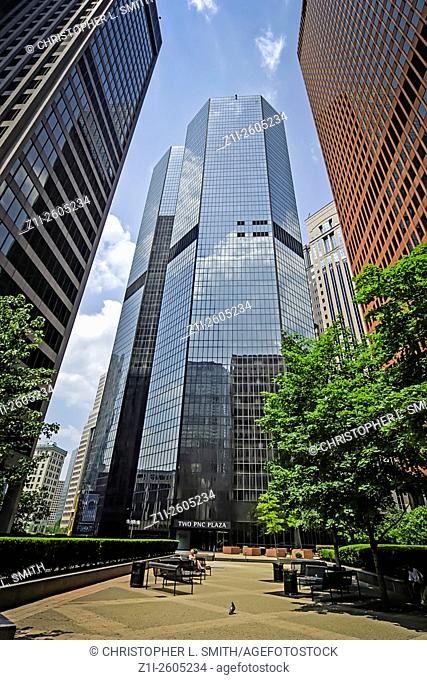 The PNC Plaza buildings on Liberty Avenue in Pittsburgh Pennsylvania PA
