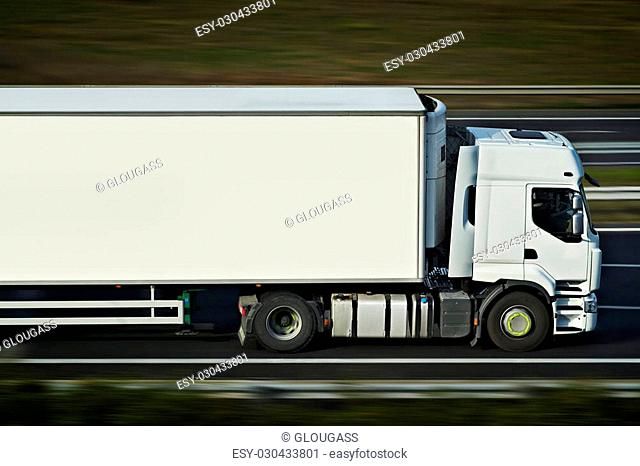 semi truck on road