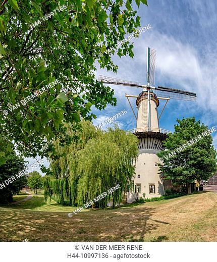 Schiedam, Tower mill The Three Cornflowers